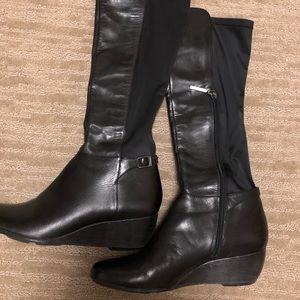 Calvin Klein Jazlynn Black Heeled Boots Size 9